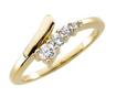 0.30 CT Round Diamond Journey Right Hand Ring 14K Yellow Gold