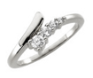 0.30 CT Round Diamond Ladies Journey Ring 14K White Gold