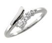 0.30 CT Round Diamond Ladies Journey Ring 14K White Gold