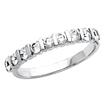 1/2 Ct 9Stone Bar Set Round Diamond Wedding Band Ring 14K W Gold