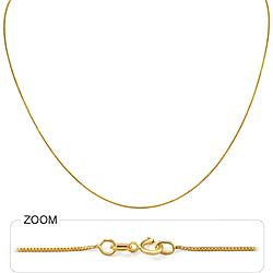 0.95gm 14k Solid Yellow Gold Italian Box Chain 14 inch