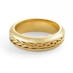 8 gm 14K Yellow Gold Braided Design Wedding Band Ring 6mm