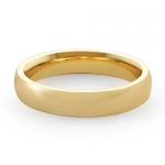 5.2gm 14K Plain Yellow Gold Comfort Fit Wedding Band 4mm