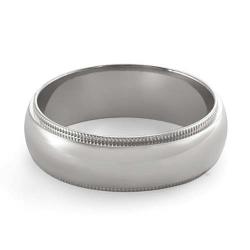 7.3g 14K White Gold Comfort Fit Wedding Band Ring 6.10m