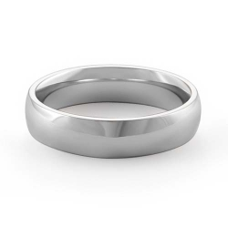 7gm 14 K White Gold Comfort Fit Wedding Band Ring 5mm