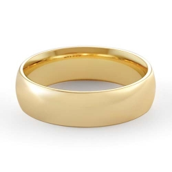 8gm 14 K Yellow Gold Comfort Fit Wedding Band Ring 6mm