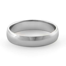 3.5g 14K White Gold Comfort Fit Wedding Band Ring 4.2mm