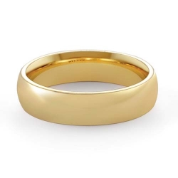 6.5gm 14K Yellow Gold Comfort Fit Wedding Band Ring 5mm