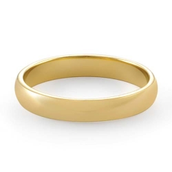 3gm 14K Yellow Gold Comfort Fit Wedding Band Ring 3.4mm