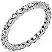 1/2 CT Round Eternity Diamond Wedding Band 14K White Gold
