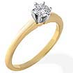 0.43 CT Round Solitaire Engagement Diamond Ring 14K Gold H SI1