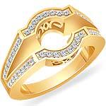 1/2 Ct Round Diamond Setting Engagement Ring 14K Yellow Gold