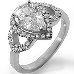 1.41Ct Pear Round Solitaire Diamond Anniversary Engagement Ring 14k White Gold