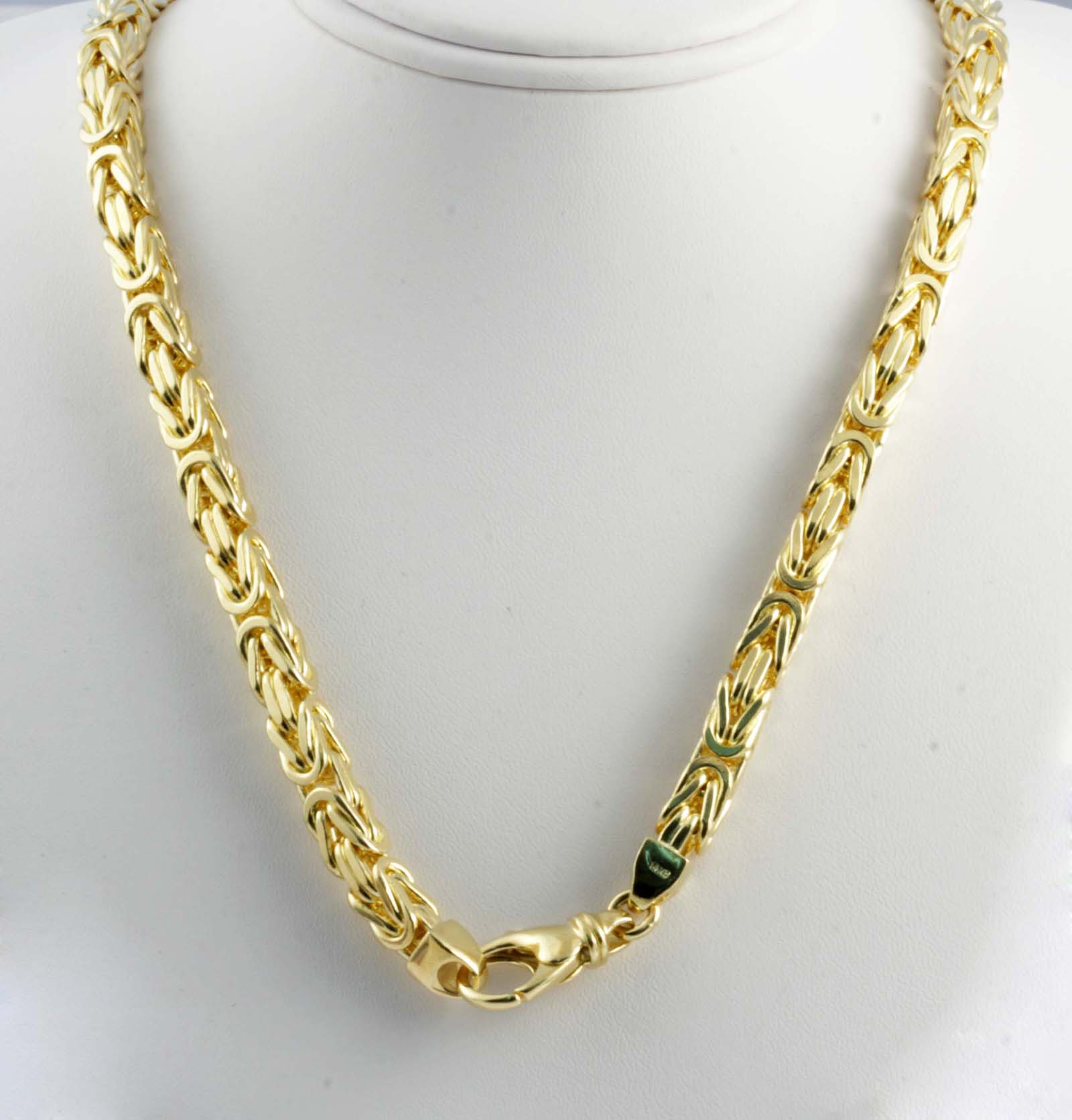 Mens Gold Byzantine Necklace: 193.40 Gm 14k Yellow Solid Gold Men's Women's Byzantine